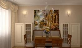 Проект 4-комнатной квартиры, 130 кв.м., Морская набережная