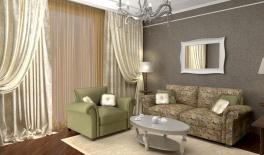 Проект гостиной, 28 кв.м., Московский район
